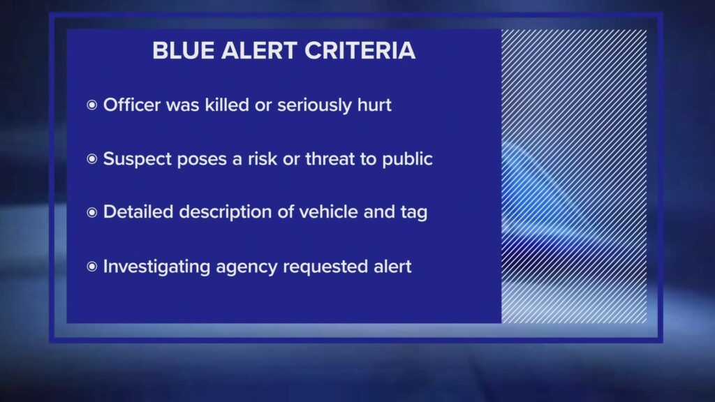 What is a blue alert in Texas