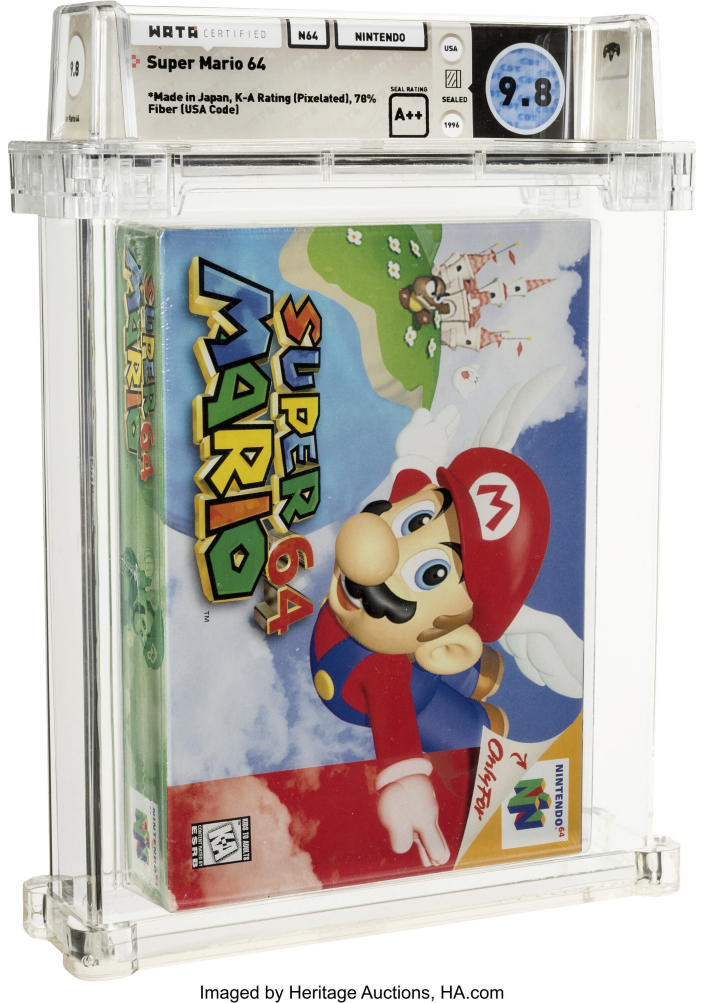 Undisclosed Buyer Pays $1.56M For An Unopened Super Mario 64 Game From 1996