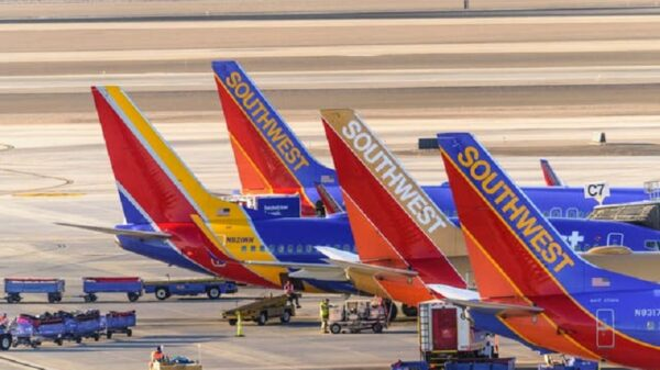 Rough Weather Forces Cancellation of a Large Number of Southwest Airlines Flights across Florida